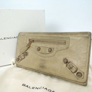 BALENCIAGA purse Leather continental classic city
